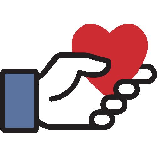 facebook fundraiser icon