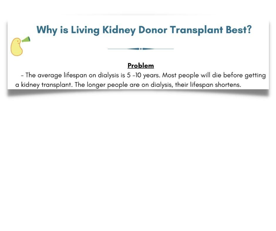 Why is Living Kidney Transplant Best? MyKDC