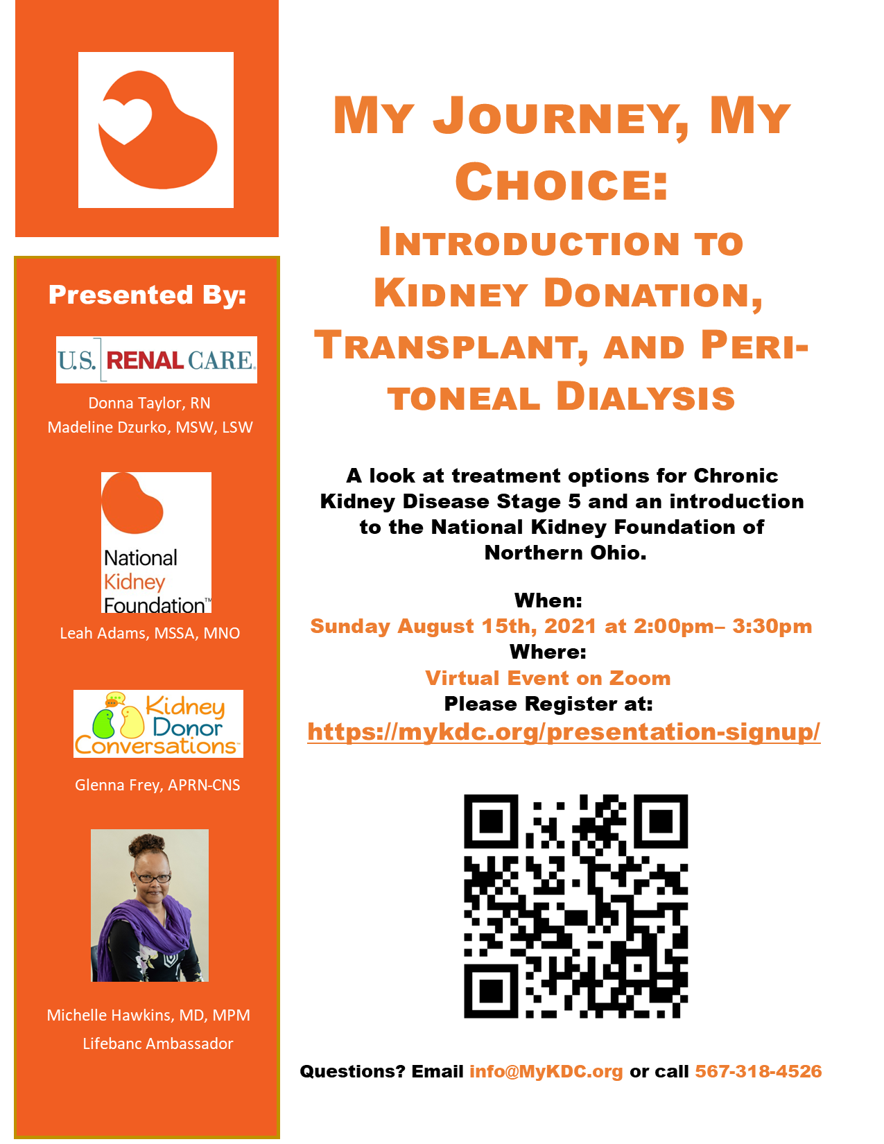 Kidney Disease options of peritoneal dialysis and living kidney transplant